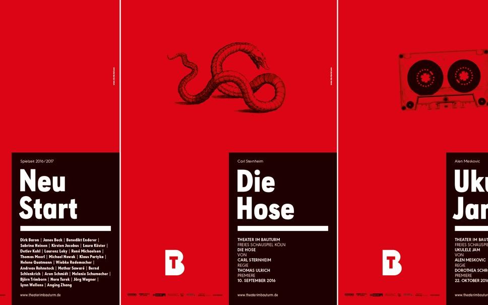 Theater im Bauturm Plakate - Beispiele für gutes Branding