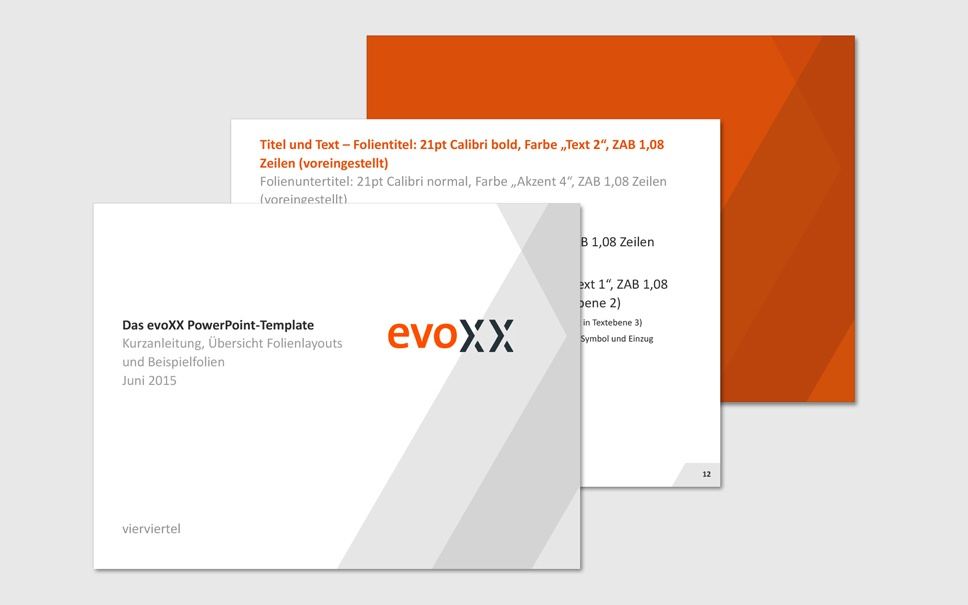 evoxx PPT-Vorlagen - Beispiele für gutes Branding