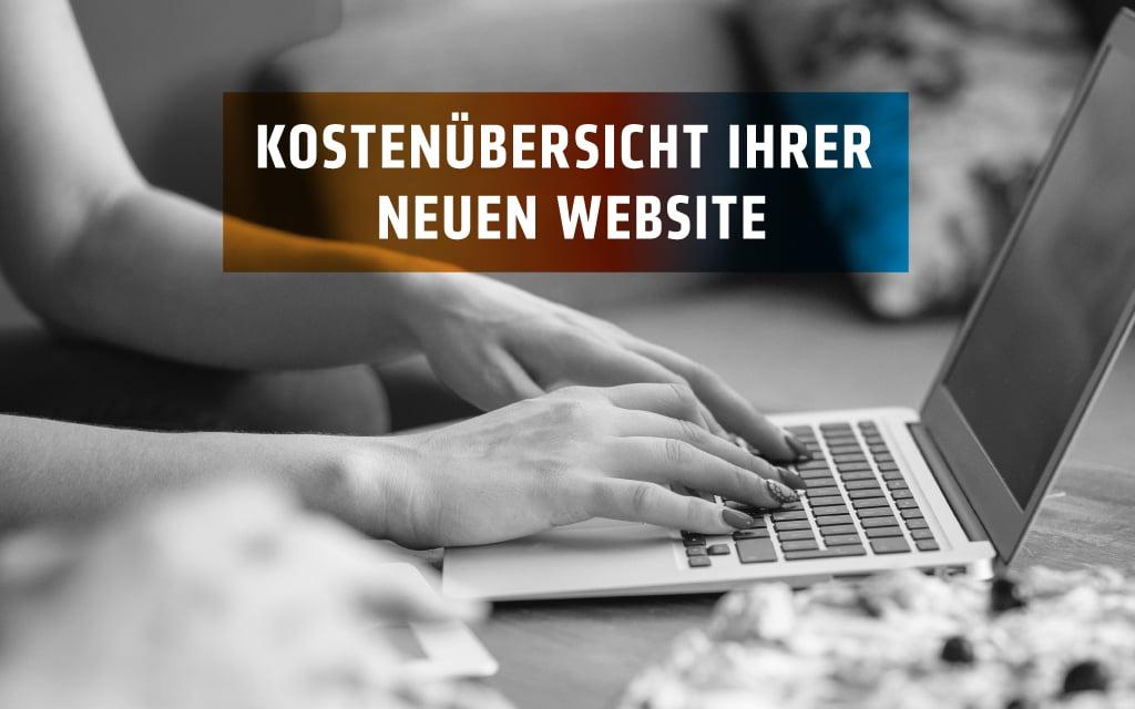 Neue Website – Wie hoch sind die Kosten?